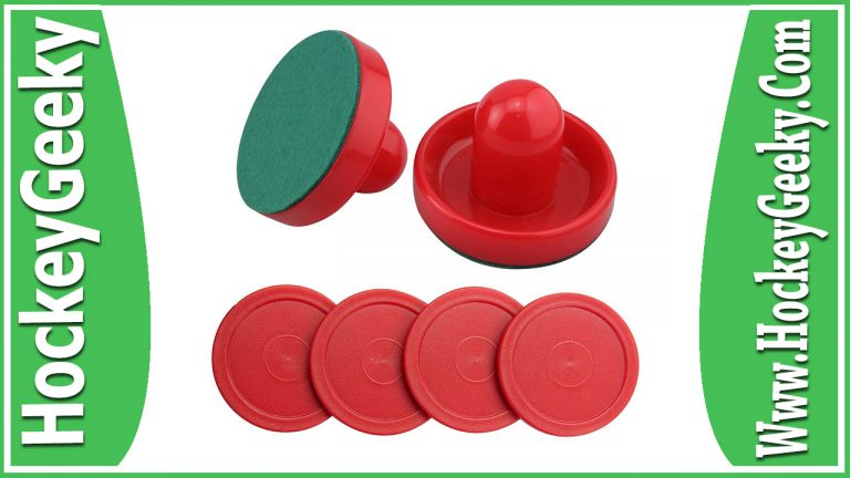 Jollylife Set of 2 Red Air Hockey Pushers and 4 Red Pucks Review