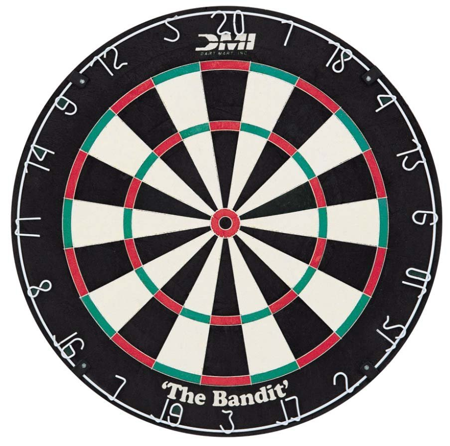 DMI Bandit Staple-free Bristle Dartboard_