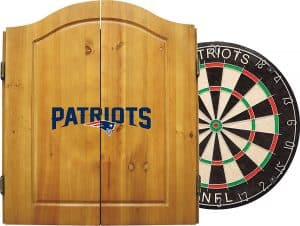 Imperial Officially Licensed NFL Merchandise Dart Cabinet Set with Steel Tip Bristle Dartboard and Darts