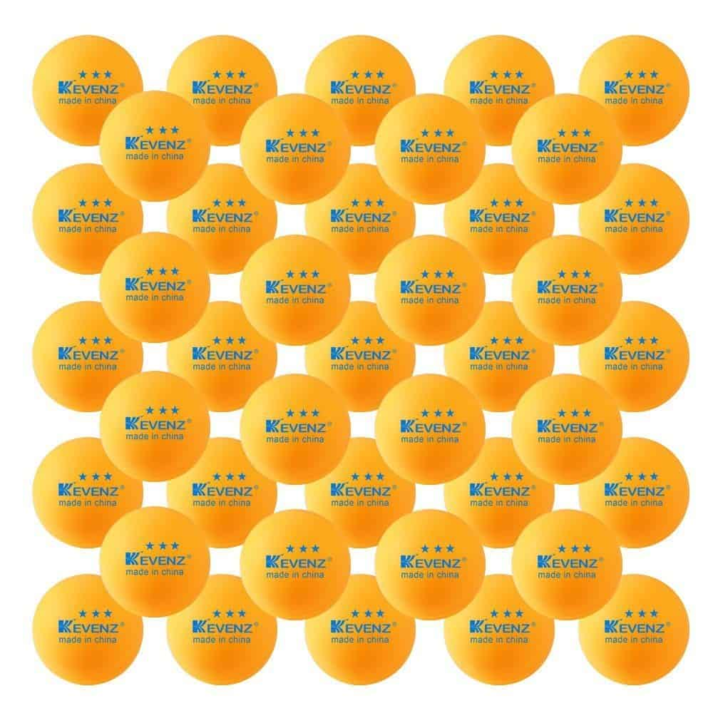 50-Pack-KEVENZ-3-Star-40mm-Ora​nge-Table-Tennis-Ball