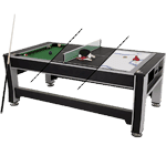 Triumph Sports 84-Inch 3-in-1 Rotating Table