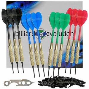 Set of Twelve Brass 2ba 16gm Soft Tip Bar Darts