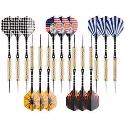UZOPI 15 Packs Steel Tip Darts 18 Grams