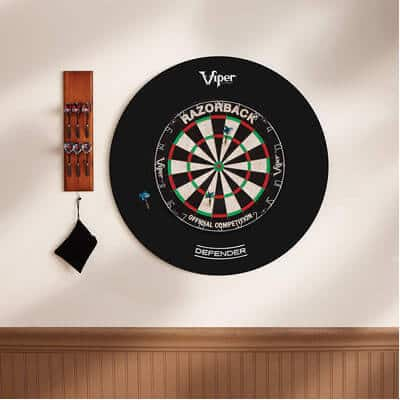 Viper Defender Backboard & Sisal/Bristle Steel Tip Dartboard Bundle